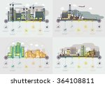 flat design vector images set.... | Shutterstock .eps vector #364108811