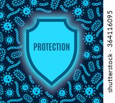 shield protects against germs | Shutterstock .eps vector #364116095