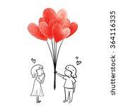 Boy Give Heart Balloon...