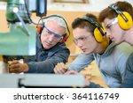 woodwork apprenticeship | Shutterstock . vector #364116749