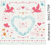 valentine's day set with main... | Shutterstock .eps vector #364117709