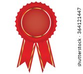 label   award with ribbons.... | Shutterstock .eps vector #364121447