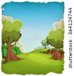 Cartoon Rural Landscape...