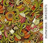 cartoon hand drawn doodles on... | Shutterstock .eps vector #364131071
