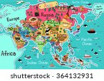 a vector illustration of asia... | Shutterstock .eps vector #364132931