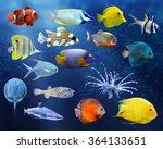 great collection of a tropical... | Shutterstock . vector #364133651