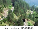 railroad tunnels in tourist... | Shutterstock . vector #36413440
