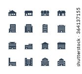 apartment buildings and houses... | Shutterstock .eps vector #364137155