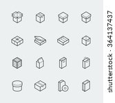 package related vector icon set ... | Shutterstock .eps vector #364137437