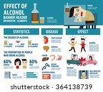 alcohol infographic elements.... | Shutterstock .eps vector #364138739