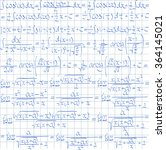 hand drawn mathematical vector... | Shutterstock .eps vector #364145021