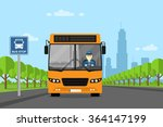 picture of a bus with bus... | Shutterstock .eps vector #364147199