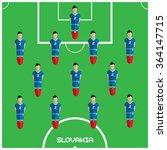 football soccer players... | Shutterstock . vector #364147715