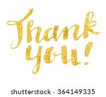 thank you modern calligraphy in ... | Shutterstock .eps vector #364149335
