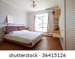 interior of bedroom with... | Shutterstock . vector #36415126