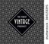 vintage label on seamless... | Shutterstock .eps vector #364153391