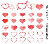 set of symbols heart  isolated... | Shutterstock .eps vector #364153787