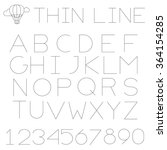 thin line alphabet  uppercase . ...