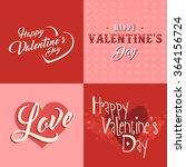 valentines day vintage vector... | Shutterstock .eps vector #364156724