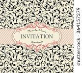 retro invitation or wedding... | Shutterstock .eps vector #364157279