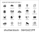 smart city vector icons and... | Shutterstock .eps vector #364162199