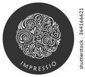 round calligraphic emblem.... | Shutterstock .eps vector #364166621