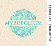 round calligraphic emblem.... | Shutterstock .eps vector #364166681