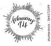 14 February. Hand Lettering...