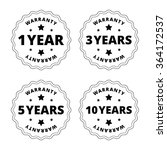 black and white warranty... | Shutterstock .eps vector #364172537