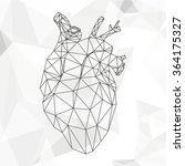 geometric heart isolated on... | Shutterstock . vector #364175327