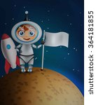 astronaut in space suit... | Shutterstock .eps vector #364181855