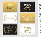 set of 6 cards with lettering.... | Shutterstock .eps vector #364185851