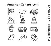 american culture icons  culture ... | Shutterstock .eps vector #364188305