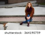 happy young fashion woman in... | Shutterstock . vector #364190759