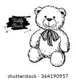 Vector Hand Drawn Teddy Bear...