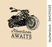 adventures awaits inspirational ... | Shutterstock .eps vector #364193105