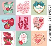 valentines day romantic cards... | Shutterstock . vector #364195727