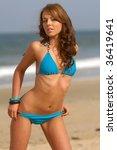 beautiful bikini girl   Shutterstock . vector #36419641