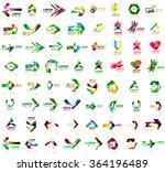 set of geometric design arrow... | Shutterstock .eps vector #364196489