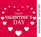 happy valentine's day card... | Shutterstock .eps vector #364197887