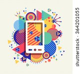 mobile cell phone icon app... | Shutterstock .eps vector #364201055