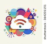 rss feed cloud computing icon... | Shutterstock .eps vector #364201151