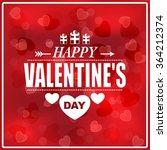 valentine's day poster... | Shutterstock .eps vector #364212374