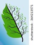 vector image of stylized leaves ... | Shutterstock .eps vector #364213571