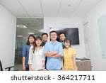 asian business people group... | Shutterstock . vector #364217711