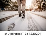 walking in the snow | Shutterstock . vector #364220204