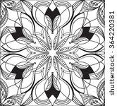 hand drawn background. mandala. ... | Shutterstock .eps vector #364220381