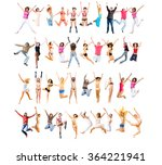 jumping together success... | Shutterstock . vector #364221941