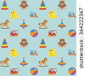 baby seamless pattern with... | Shutterstock .eps vector #364222367