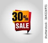 vector sale paper banner. sale... | Shutterstock .eps vector #364226951
